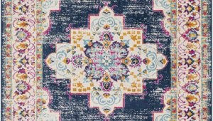 Pink and Navy area Rug Leaver oriental Navy Pink area Rug