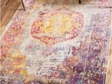 Pink and Yellow area Rugs Lonerock Purple Pink Yellow area Rug