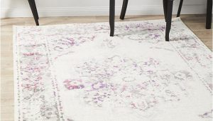 Pink Grey and White area Rug Metro 602 Transitional Rug White Pink Grey