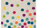 Pink Polka Dot area Rug Rizzy Home Play Day Confetti Dots area Rugs