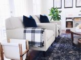 Plaid area Rug Living Room Blue and White In the Living Room with A touch Of Plaid