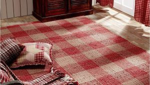 Plaid area Rug Living Room Breckenridge Rustic Country Farmhouse Red Plaid area Rug