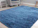 Plain Blue area Rug Thick Super soft Matrix Plain Plain Blue Navy Shaggy area Rugs 80cm X 140cm