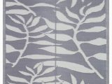 Plastic Cover for area Rug Lightweight Indoor Outdoor Reversible Plastic area Rug 5 9 X 8 9 Feet Leaf Pattern Grey White