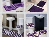 Plum Colored Bath Rugs Dark Purple Bathroom Rug Set Image Of Bathroom and Closet