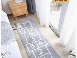 Plush Bathroom Rug Runner Us $38 16 Off soft Shaggy Cotton Hopscotch Kid Children Rugs Absorbent Non Slip Durable Rug Mat for Bedroom Kitchen Playroom Gray Blue Yellow Mat
