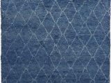 Plush Blue area Rug Exquisite Rugs Moroccan Hand Knotted 2243 Blue area Rug