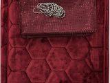 Plush Burgundy Bathroom Rugs Amazon 15 Piece Bath Rug Set Honey B Design Memory