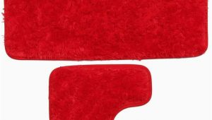 Plush Red Bathroom Rugs Amazon Bathroom Mats 2 Pcs Fashion Super Absorbent