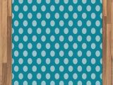 Polka Dot area Rug 5×7 Amazon Ambesonne Teal area Rug Retro Style Pattern