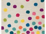 Polka Dot area Rug 5×7 Rizzy Home Play Day Confetti Dots area Rugs