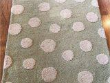 Pottery Barn Kids area Rugs Pottery Barn Kids Wool Puffy Dot Rug 3×5 Green Cream area Rug