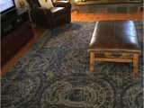 Pottery Barn Navy Blue Rug Pottery Barn Bosworth Printed Medallion 9 X 12 Plush Wool