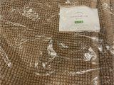 Pottery Barn Textured organic Bath Rug Pottery Barn Textured organic Cotton Bath Mat Rug Tan 24 X 64 Brand New