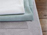 Pottery Barn Textured organic Bath Rug Textured Cotton Bath Mat