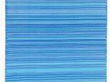 Premier Blue Rain Rug Reversible Handwoven Flatweave Blue Indoor Outdoor area Rug