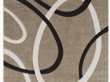 Premium Hand Carved area Rugs Abstract Power Loom Champagne area Rug