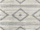 Printed Plush Memory Foam area Rug Abani Willow Wil100a Moroccan Tribal Print Black and Ivory area Rug
