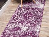 Purple and Beige area Rug Unique Loom sofia Collection Traditional Vintage Beige area Rug 2 0 X 13 0 Runner Purple