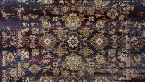 Purple and Brown area Rugs Latona Purple Brown area Rug