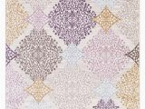 Purple and Gold area Rugs 1158 Multi