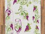 Purple and Lime Green area Rugs Amazon Ambesonne Wine area Rug Wine Bottle and Glass