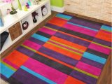 Purple and Lime Green area Rugs Multi Colour Pink Purple Blue Lime Green orange Thick