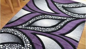 Purple and Silver area Rugs New Small Extra Huge Purple & Silver Black Thick