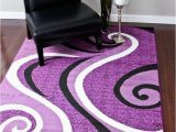 Purple and White area Rugs 0327 Purple Black White 5 2×7 2 area Rug Abstract Carpet