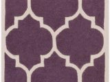 Purple and White area Rugs Ayler Hand Tufted Wool Purple F White area Rug