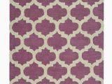 Purple and White area Rugs Weidner Geometric Tufted Purple area Rug