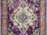 Purple Blue area Rug Safavieh Monaco Mnc243l Violet Light Blue area Rug