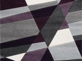 Purple Grey and Black area Rugs Leong Geometric Handmade Purple Gray Black area Rug