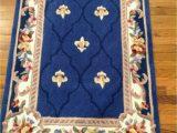 "Qvc area Rugs Royal Palace Royal Palace Rug Anniversary Fleur De Lis 3 X 4 6"" Wool Rug Sapphire H"