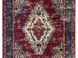 Radiant Floor Heating and area Rugs Avianna Persian Inspired Medallion Maroon Blue Brown area Rug