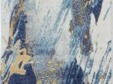 Reasor Ivory Blue area Rug Reasor Abstract Ivory Blue area Rug