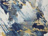 Reasor Ivory Blue area Rug Reasor Ivory Blue Rug