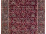 Red 8 X 10 area Rug E Of A Kind Janie Hand Knotted 8 X 10 Wool Red Green area Rug