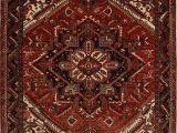 """Red 8 X 10 area Rug Heriz Red Hand Knotted 8 4"""" X 10 3"""" area Rug 251"""
