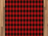 Red and Black Buffalo Check area Rug Ambesonne Plaid area Rug Lumberjack Fashion Buffalo Style Checks Pattern Retro Style with Grid Position Flat Woven Accent Rug for Living Room