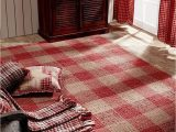 Red and Black Buffalo Check area Rug Breckenridge Rustic Country Farmhouse Red Plaid area Rug