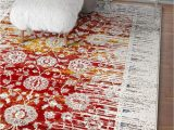 Red and Blue Modern Rug Modern Floral Persian Design Red Blue area Rug – Modern Rugs