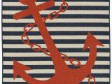 Red and Blue Striped Rug Red and Blue Striped Anchors Aweigh Rug