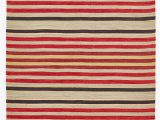 Red and Blue Striped Rug Regimental Stripe Rug