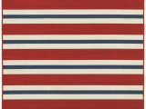 Red and Blue Striped Rug Sphinx Meridian 5701r Rug