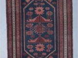 Red and Blue Vintage Rug Alexis Navy Blue Red Vintage Rug