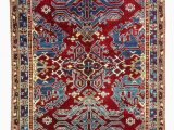 "Red and Blue Vintage Rug Blue Red New Turkish Pile Rug 5 5"" X 6 4"" 65 In X 76 In"