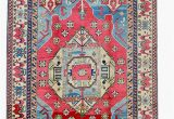 Red and Blue Vintage Rug Red Blue 9 X 12 Vintage area Rug Kazak Hand Knotted Rug Blue and Red Wool Rug