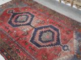 Red and Blue Vintage Rug Red Sea Vintage Persian Rug — Blue Salvage