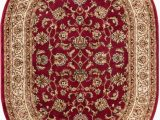 """Red and Brown area Rugs Walmart Well Woven Barclay Sarouk Traditional oriental Red 5 3"""" X 6 10"""" Oval area Rug"""